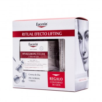 EUCERIN HYALURON-FILLER+VOLUME-LIFT DIA PIEL NORMAL/MIXTA 50 ML+ CONTORNO REGALO