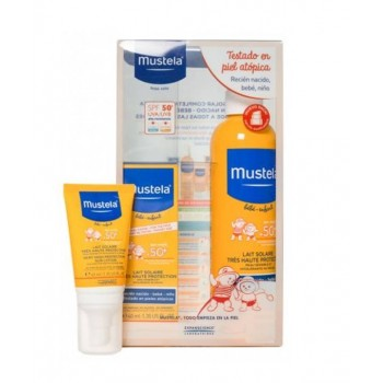 MUSTELA SPF 50+ SPRAY 300 ML + LECHE 40 ML