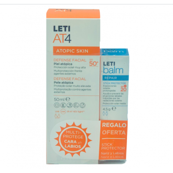 LETI AT-4 DEFENSE FACIAL SPF 50+ 50 ML C/REGALO STICK PROTECTOR