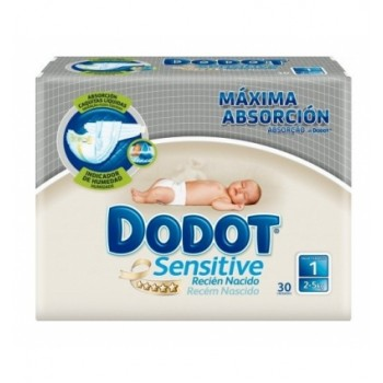 DODOT SENSITIVE T1 R.NACIDO 2-5 KG 30 UN.