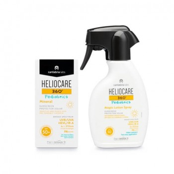 HELIOCARE 360º SPF 50+ PEDIATRICS MINERAL 50 ML + ATOPIC LOTION SPRAY 250 ML