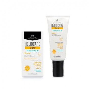 HELIOCARE 360º SPF 50+ PEDIATRICS MINERAL 50 ML + PEDIATRICS LOCION 200 ML