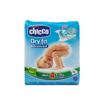 PAÑALES DRY FIT CHICCO 4 8-18KG
