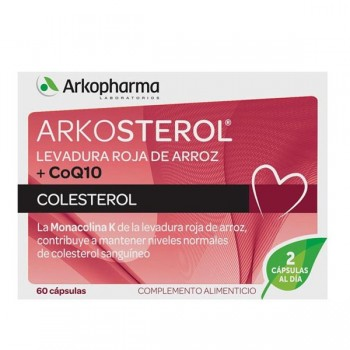 ARKOSTEROL LEVADURA ARROZ ROJO+Q10 60 CAPSULAS